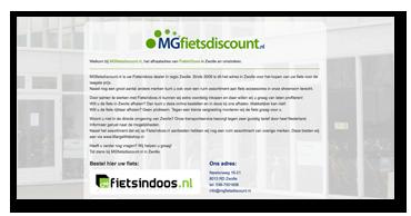 Website MGfietsdiscount